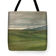 Roman Landscape Tote Bag by Antoine Auguste Ernest Hebert