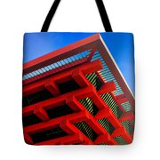 Roof Corner - Expo China Pavilion Shanghai Tote Bag by Christine Till