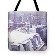 Roofs under Snow Tote Bag by Gustave Caillebotte