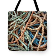 Rope Background Tote Bag by Carlos Caetano
