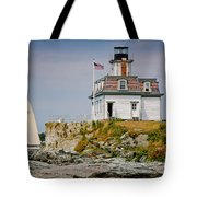 Rose Island Light Tote Bag by Susan Cole Kelly