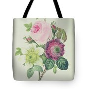 Rose Tote Bag by Pierre Joseph Redoute
