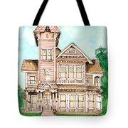 Rose Victorian Inn - Arroyo Grande Ca 1886 Tote Bag by Arline Wagner