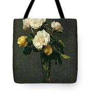 Roses In A Champagne Flute Tote Bag by Ignace Henri Jean Fantin-Latour