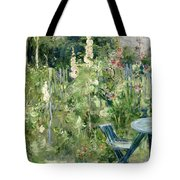 Roses Tremieres Tote Bag by Berthe Morisot