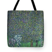 Roses Under The Trees Tote Bag by Gustav Klimt