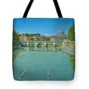 Rowing On The Tiber Rome Tote Bag by Richard Harpum