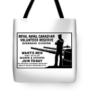 Royal Naval Canadian Volunteer Reserve Tote Bag by War Is Hell Store
