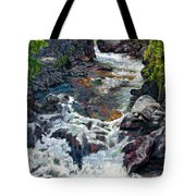 Rushing Waters Tote Bag by John Lautermilch
