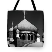 Russian Orthodox Church Bw Tote Bag by Karol  Livote