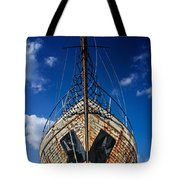 Rusting boat Tote Bag by Stylianos Kleanthous