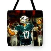 Ryan Tannehill - Miami Dolphin Quarterback Tote Bag by Paul Ward