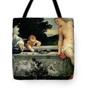Sacred And Profane Love Tote Bag by Titian