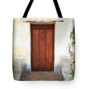 Sacred Heart Door Tote Bag by Carol Groenen