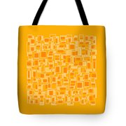Saffron Yellow Abstract Tote Bag by Frank Tschakert