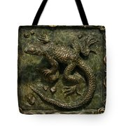 Sagebrush Lizard Tote Bag by Dawn Senior-Trask
