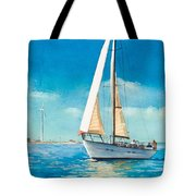 Sailing Through The Gut Tote Bag by Laura Lee Zanghetti