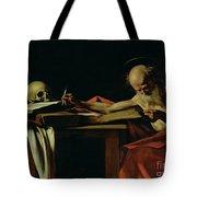 Saint Jerome Writing Tote Bag by Caravaggio