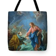 Saint Peter Invited To Walk On The Water Tote Bag by Francois Boucher