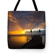 Salamander Bay Sunrise Tote Bag by Avalon Fine Art Photography