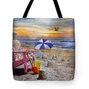 Sam's  Sandcastles Tote Bag by Betsy Knapp