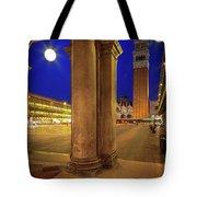San Marco At Night Tote Bag by Inge Johnsson