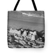 SAND CASTLES BY THE SHORE Tote Bag by ROB HANS