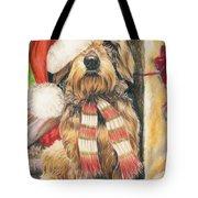 Santas Little Yelper Tote Bag by Barbara Keith