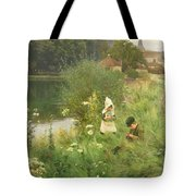 Saturday Afternoon Tote Bag by Gunning King