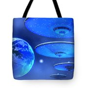 Saucers Tote Bag by Corey Ford