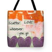 Scatter Love Tote Bag by Linda Woods
