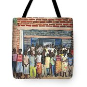 School Class Burkina Faso Series Tote Bag by Reb Frost