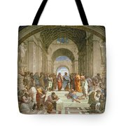 School Of Athens From The Stanza Della Segnatura Tote Bag by Raphael