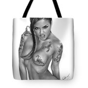 Scorpion Queen Tote Bag by Pete Tapang