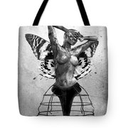 Scream Of A Butterfly II Tote Bag by Jacky Gerritsen