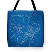 Scuba Doggie Patent Artwork 1893 Tote Bag by Nikki Marie Smith