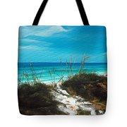 Seagrove Beach Florida Tote Bag by Racquel Morgan