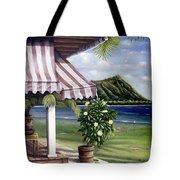 Seaside Hotel Tote Bag by Sandra Blazel - Printscapes