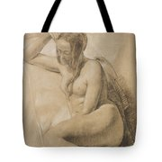 Seated Female Nude Tote Bag by Sir John Everett Millais