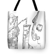 Secrets Of The Engineers Tote Bag by Regina Valluzzi