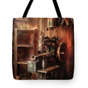 Sewing - Sewing Machine For Saddle Making Tote Bag by Mike Savad
