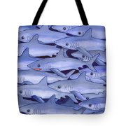 Sharks Tote Bag by Catherine G McElroy