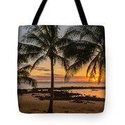 Sharks Cove Sunset 4 - Oahu Hawaii Tote Bag by Brian Harig