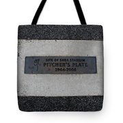 Shea Stadium Pitchers Mound Tote Bag by Rob Hans