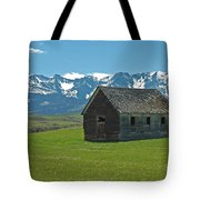 Shields Valley Abandoned Farm Ranch House Tote Bag by Bruce Gourley