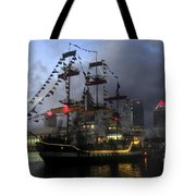 Ship In The Bay Tote Bag by David Lee Thompson