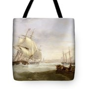 Shipping Off Hartlepool Tote Bag by John Wilson Carmichael