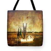 Shrimp Boat In Charleston Tote Bag by Susanne Van Hulst