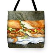 Shrimp Po Boy Tote Bag by Elaine Hodges