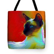 Siamese Cat 10 Painting Tote Bag by Svetlana Novikova